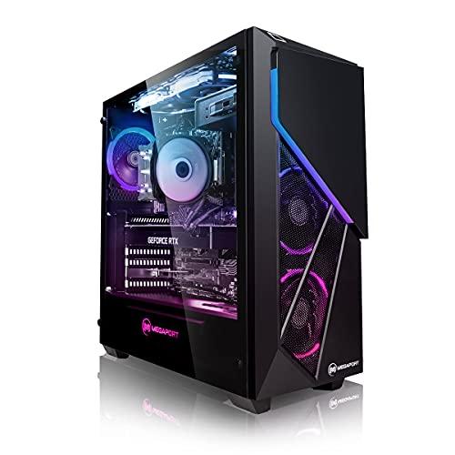 Megaport PC-Gaming Intel Core i7-11700F 8x 2.50GHz • GeForce RTX 2060 6GB • Windows 10 • 16 GB DDR4 • 480GB SSD • 1TB HDD • WiFi • PC da gaming • PC assemblato