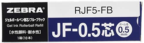 ゼブラ ジェルボールペン替芯 サラサ JF-0.5芯 ブルーブラック 10本 B-RJF5-FB