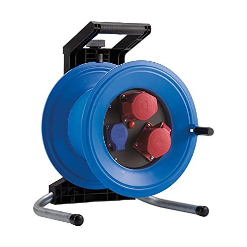 HEDI Tambor de cable vacío Professional Plus 320 (sin cable, con 2 tomas CEE 5x16 A 400 V, 1 toma de corriente de 250 V), multicolor