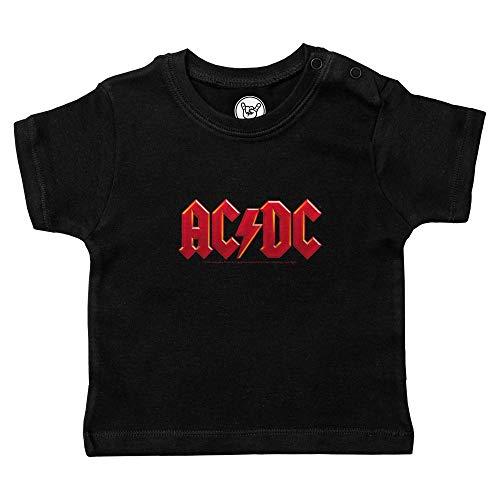 Metal-Kids AC/DC (Logo Multi) - Baby T-Shirt, schwarz, Größe 68/74 (6-12 Monate), offizielles Band-Merch