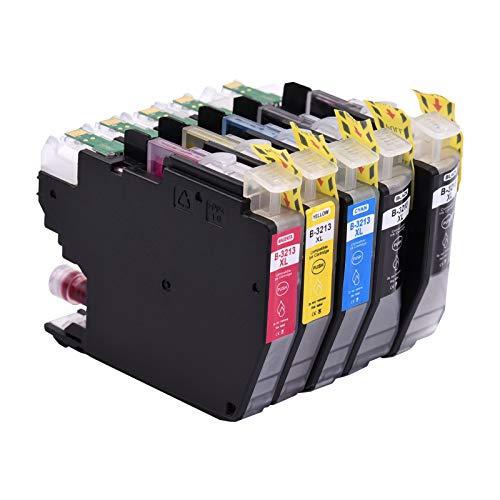 Aibecy Cartuchos de tinta compatibles para Brother LC-3213 LC-3211 LC3213 LC3211 Compatible con impresoras Brother MFC-J491DW DCP-J772DW MFC-J890DW DCP-J572DW MFC-J497DW DCP-J774DW MFC-J895DW