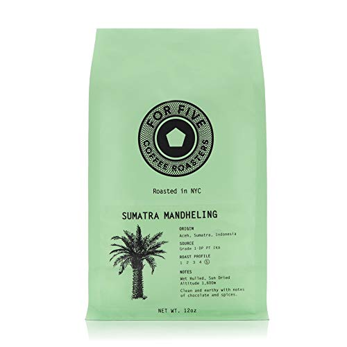 For Five Coffee Roasters - Roasted In NYC - Sumatra Mandheling Dark Roast (Origin: Aceh, Sumatra, Indonesia), Ground 12oz