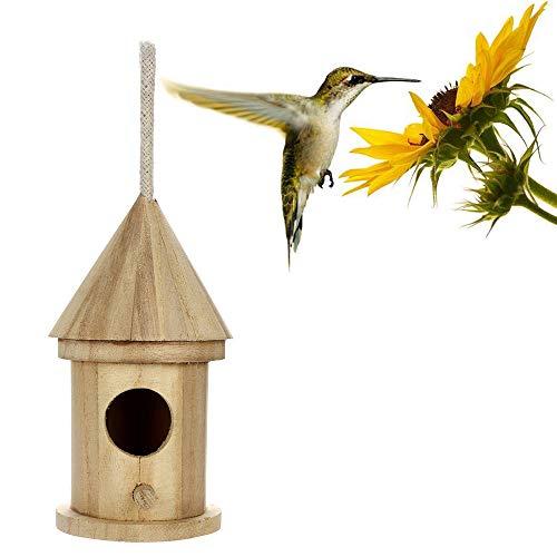 jieGorge - Caja de Madera para pájaros (Caja de Madera), Color Caqui
