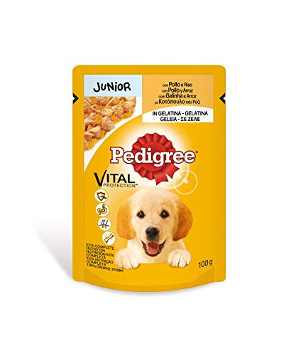 Bolsita para perros junior de pollo y arroz 100g | [Pack de 24]