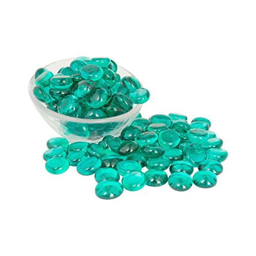 Artisan Supply Teal Glass Gems 1 Lbs. — Fills 1 1/4 Cups Vol. —Non-Toxic Lead Free Vase Filler, Table Scatter, Aquarium Fillers — Beautiful, Smooth, Fun, Vibrant Colors Crafted in The USA