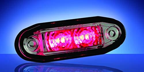 Lámpara LED de techo Goreman con forma de flush, color rojo, número de pieza: 1001-3005-R