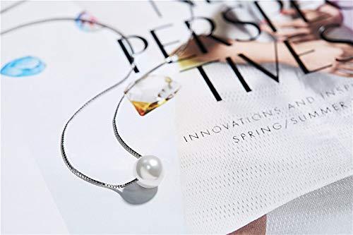 XMDNYE Kristalle von Swarovski Simulierte Perlenkette Für Frauen Anhänger 925 Sterling Silber Schmuck