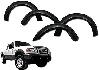 S & T RACING INC Black Pocket Style Front+Rear Fender Flares KIT Cover 4PC 93-98-11 for Ranger