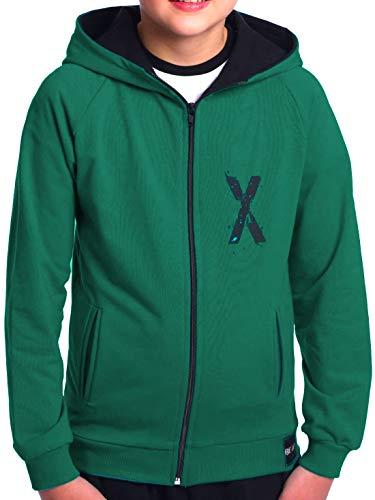 BEZLIT Kinder Jungen Hoodie Kapuzen Pullover Sweatshirt Sweater Sweatjacke Pulli 30237 Grün 164
