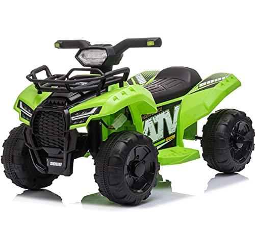 Mondial Toys Moto ELETTRICA per Bambini Mini Quad 6V ATV Full Optional Verde