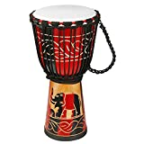 Djembe Drum Bongo Hand Drum with Goatskin African Drum Congo Stardard Size 10In Great Gift for Beginners Kids and Adults