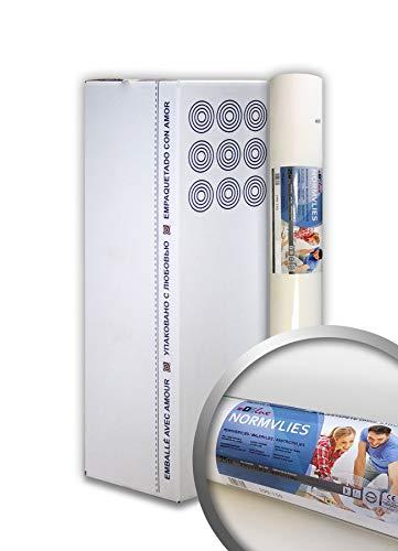 PRO[f]home® - NORMVLIES 150 g Renoviervlies 9 Rollen 168,75 m2 Glattvlies Malervlies glatte überstreichbare Vliestapete weiß