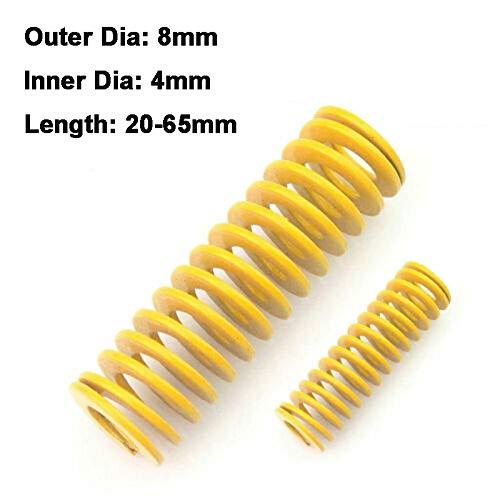 NO LOGO L-Yune, 2ST Gelb Lange Leichte Belastung Stamping Kompressions-Form des Frühling Außen-Ø 8 mm Innen-Ø 4 mm Länge 20-65m (Größe : 8 x 4 x 60mm)