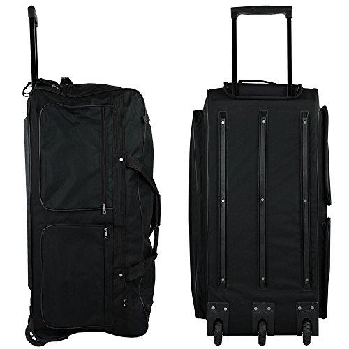 TW24 XXXL Trolleytasche 182L mit 3 Rollen schwarz Koffer Reisetasche Trolley