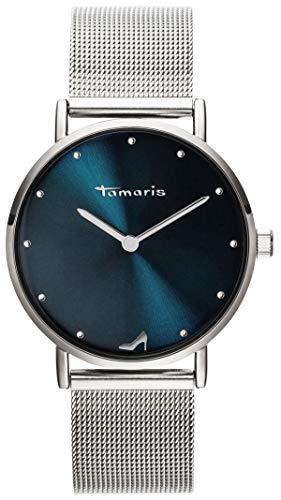 Tamaris Damen Analog Japanisches Quarzwerk Uhr mit Edelstahl Armband TW045