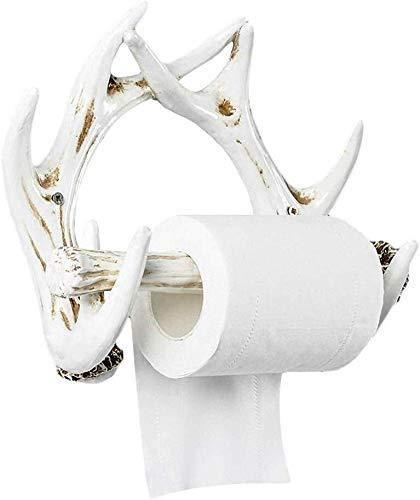 KHFFH toiletrolhouder, toiletpapierhouder, wand-, keukenrolhouder, handdoekhouder, badkamerweefsel-rollen ophangsysteem, wit