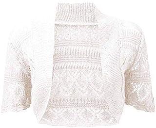 ZipZappa Girls Bolero Long Lace Sleeve Open Front Shrug Cardigan Kids Top