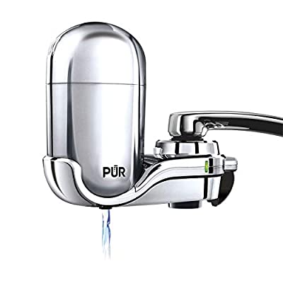 PUR Advanced Faucet Water Filter with LED Filter Status Indicator, Chrome