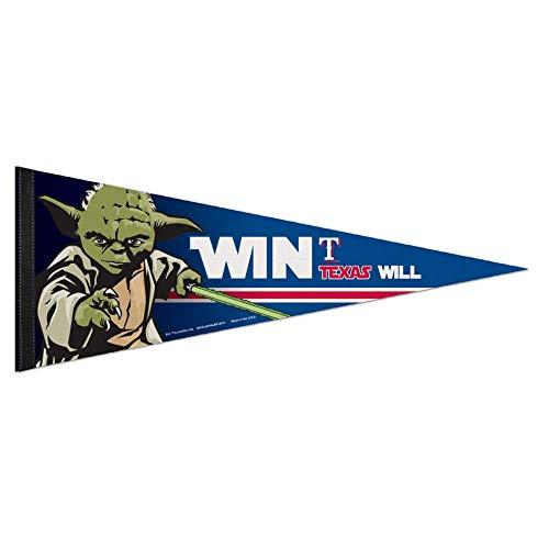 Bek Brands Baseball Teams Special Sammlerflagge Banner Wimpel mit Yoda, Chewbacca, Darth Vader, 30,5 x 76,2 cm Texas Rangers, Yoda