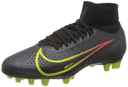 Nike Herren Superfly 8 Pro AG Football Shoe, Black/Cyber-Off Noir-Rage Green-Siren Red, 41 EU