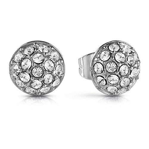 Guess Pendientes de botón Mujer chapado en plata - UBE28074