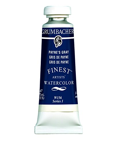 Grumbacher Finest Watercolor Paint, 14 ml/0.47 oz, Paynes Gray