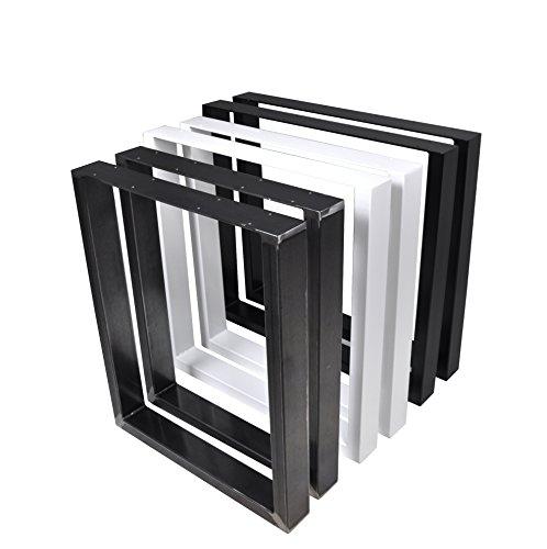 Set di 2 Gambe per tavolo in acciaio struttura tavolo (80x72 cm, bianco)