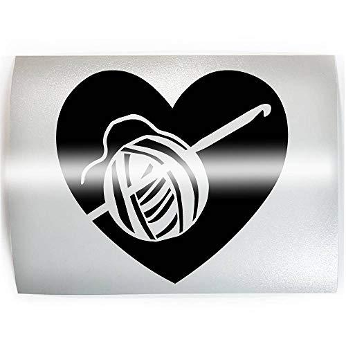 HEART Crochet - PICK COLOR & SIZE - Hook Yarn Vinyl Decal Sticker B