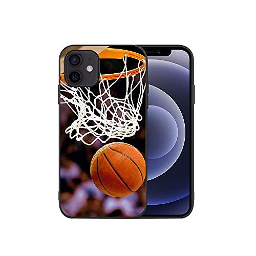 APHT Pallacanestro Disegni Pattern Phone Custodia Cover Compatibile con iPhone 5-12 PRO Max Antiurto Trasparente Flessibile Morbido TPU Silicone Phone Protective Case Cover