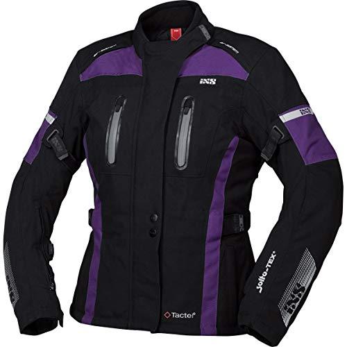 IXS Pacora-ST - Chaqueta de moto con protectores para mujer, color negro/morado, XXL, Tourer, para todo el año, poliamida