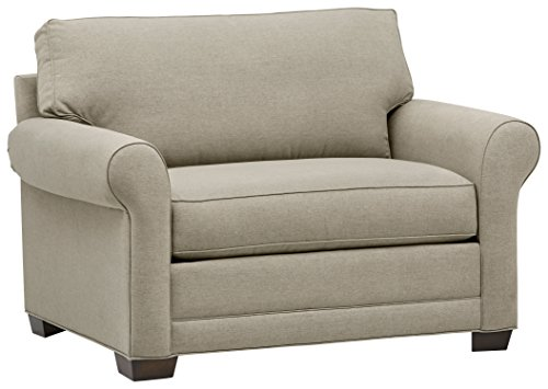 "Amazon Brand – Stone & Beam Kristin Chair-and-a-Half Upholstered Sleeper Sofa, 55.5""W, Sand"