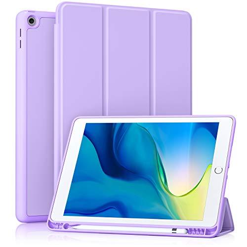 Akkerds - Funda para iPad 10.2 2020 iPad 8.ª generación/2019 iPad 7.ª generación con soporte para lápiz, funda protectora de alta...