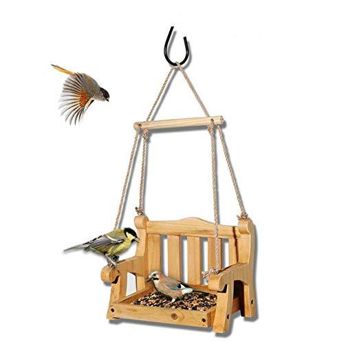 Vogel het voeden apparaat, retro houten schommel vogel voeder, tuin villa decoratieve beugel Geschikt voor alle wilde vogels