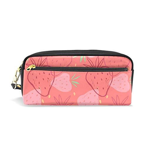 Yuanmeiju Estuche Red Strawberry Student Stationery Pen Estuche Holder Bag for School Office Storage Organizer
