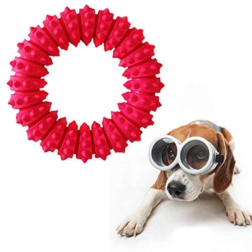 MEKEET Pet Dog Resistencia de Goma para morder Juguete para Perros Juguetes de Entrenamiento para Masticar Diente de Limpieza Molar Suministro de Mascotas.