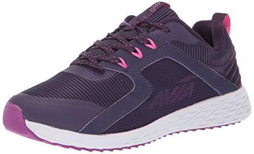 Avia Women's Avi-Ryder Sneaker, BlackBerry Cordial/Byzantium/Pink Glo, 7 Medium US