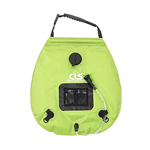 Find Discount 20L Camping Solar Shower Bag, Summer Outdoor Bath Portable Shower Bag with Shower Head...