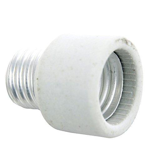 Medium Base To Medium Base Light Bulb Socket Porcelain Extender / E26 1 Inch Extension Adapter