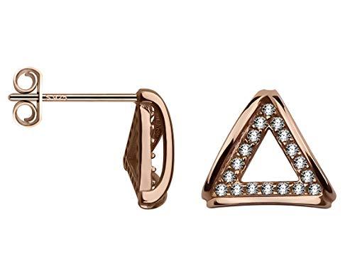 SOFIA MILANI Pendientes Mujer Triángulos Plata de Ley Chapados en Oro Rosa 20598