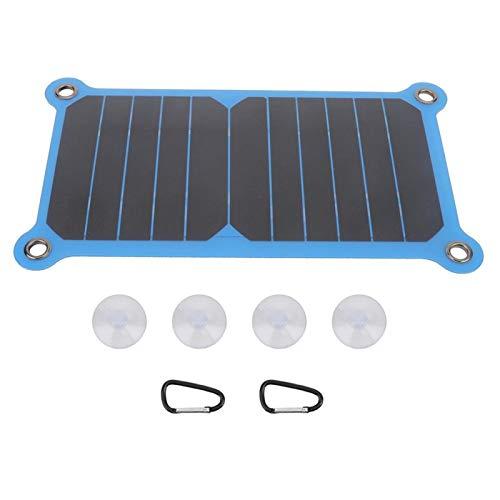 Eddwiin Cargador Solar - Cargador Solar Delgado portátil de Silicona de 6.5w Accesorio de Panel de Carga Solar eficiente