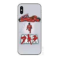 アキラ Phone11用ケース Akira Otomo Katsuhiro 強化ガラス保護シェル スマホケース 耐衝撃 携帯電話ケース アニメファン (iPhone SE 2,A)