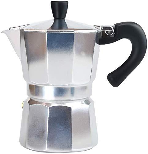 Ideal Swan 3 Tassen (120ml) Moka Express Espressokocher Aluminium Mokkakanne Kaffeekocher Herd Kaffeemaschine - Silber
