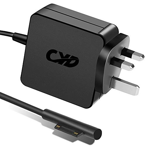 QYD 36W 12V 2.58A Charger PowerFast Replacement for Laptop-Charger Microsoft Windows New Surface Pro 5 4 3 1625 1735 1736, Extra 5.25ft Notebook Power Supply Ac Adapter Cord Cable