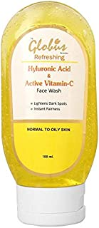 Globus Refreshing Anti Ageing Face Wash with Hyaluronic Acid and Vitamin C - 100 ml