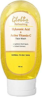 GLOBUS REMEDIES Refreshing Anti Ageing Face Wash with Hyluronic Acid and Vitamin C (100 ml)