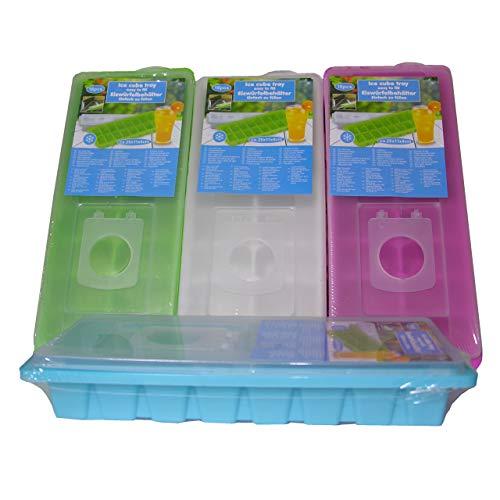 Eiswürfelform Eiswürfelbereiter mit Deckel Eiswürfel Form EIS Behälter grün