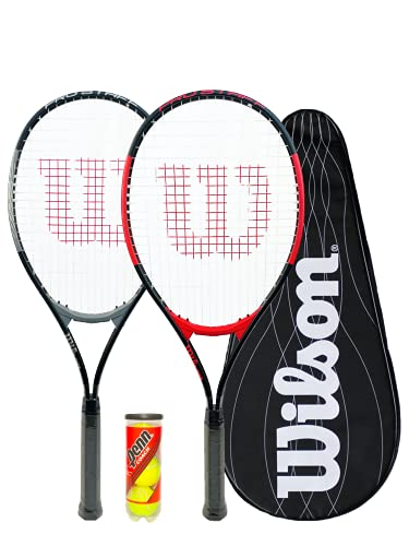 Wilson Pro Staff Excel Tennisschläger Twin Set + Wilson Performance Cover x 2 & 3 Penn Tennisbälle