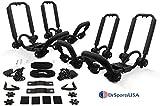 DrSportsUSA Two Pair Fold Down J Bar Kayak Rack Designed mounts to virtually All...