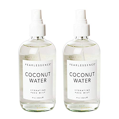 Pearlessence Coconut Water Hydrating Face Mist – Infused with Coconut Water, Minerals & Vitamins for Hydrated & Radiant Looking Skin | Made in USA & Cruelty Free (8oz/2 Pack)