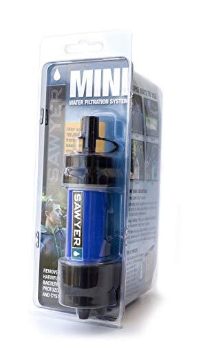 Sawyer Mini PointONE Wasserfilter Outdoor Wasseraufbereiter Trinkwasser 1 x 0.5L Trinkbeutel (SP128)
